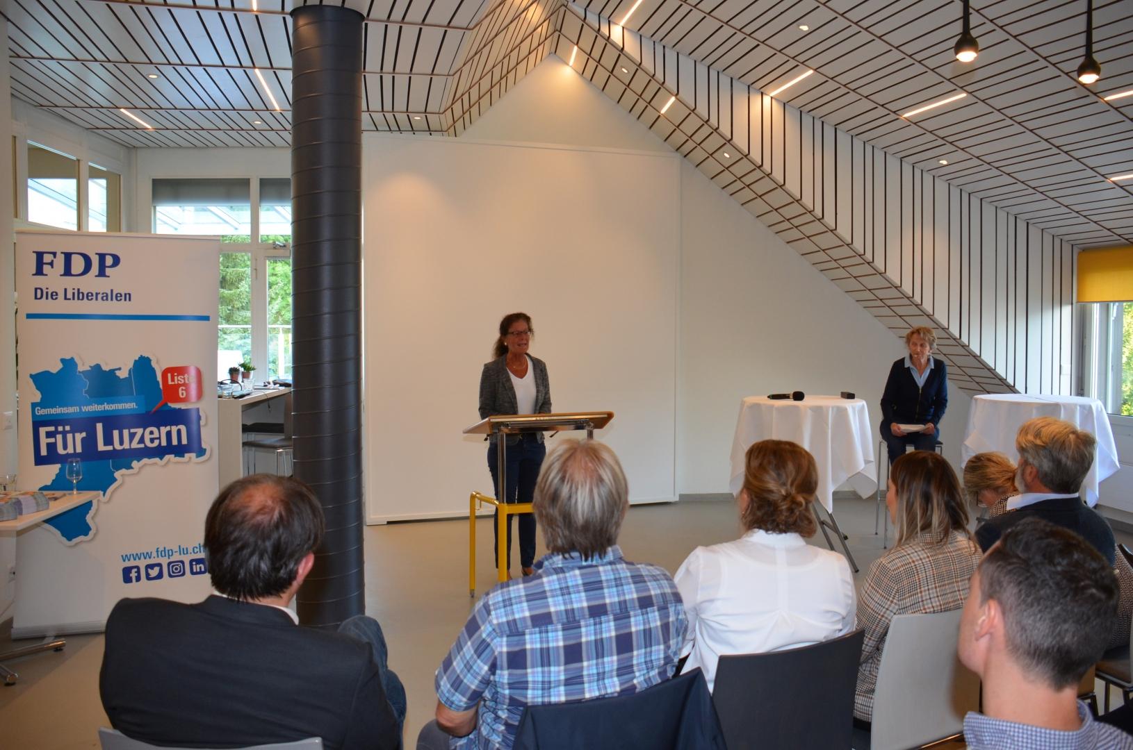 Begrüssung Wahlanlass in Hertenstein 20.09.19