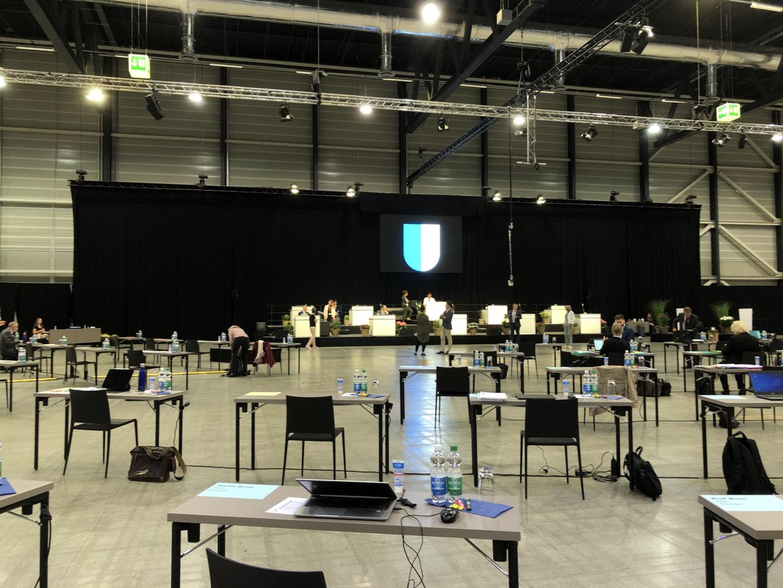 Kantonsratssession in der Messe Luzern