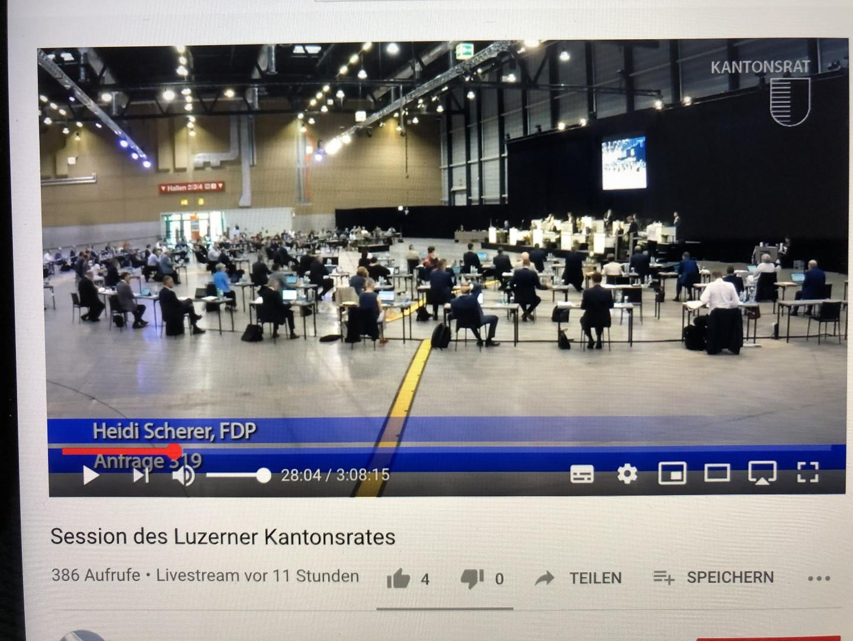 Livestream in der Messe Luzern