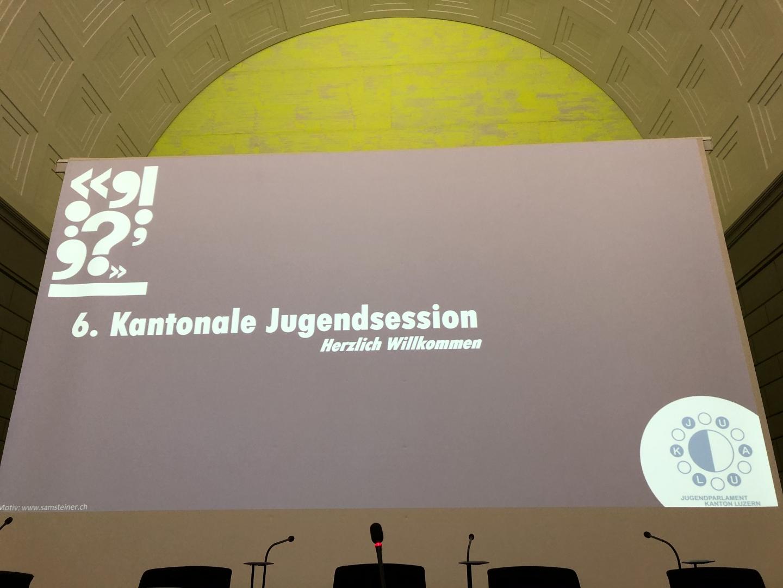 Besuch der 6. Kantonalen Jugendsession vom 15. November 2019