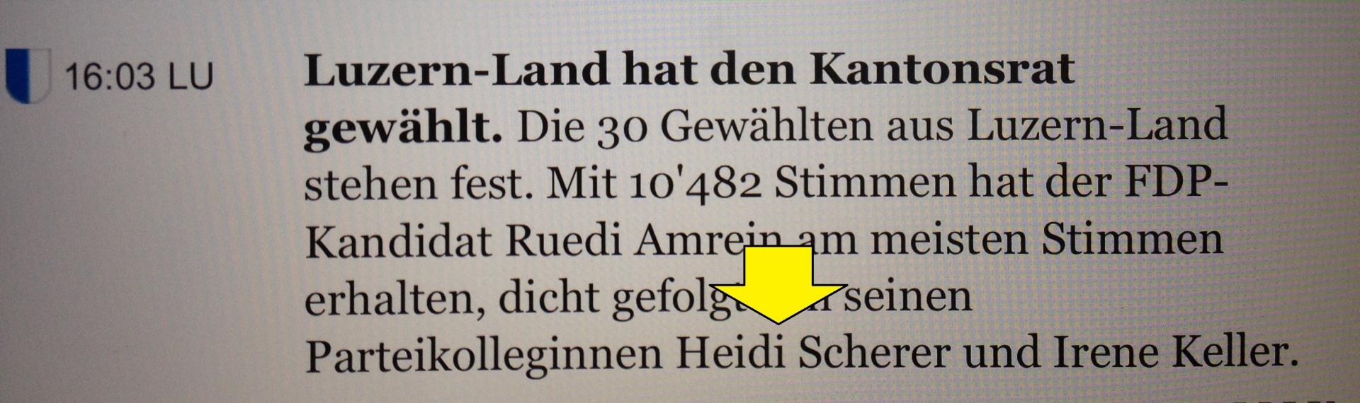 Meine Wiederwahl in den Kantonsrat: DANKE!